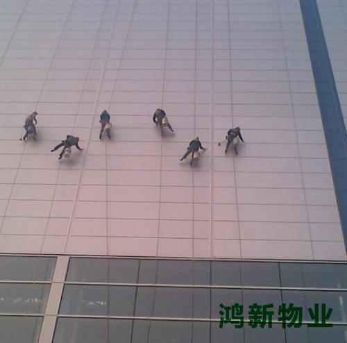 高空外墙玻璃保洁
