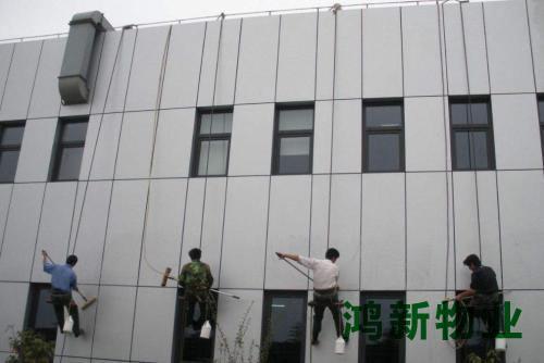大楼外墙保洁施工