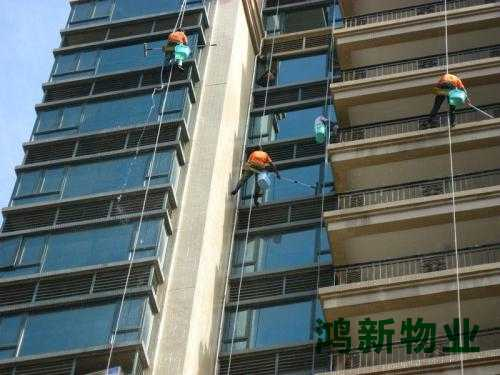 高楼外墙保洁的施工