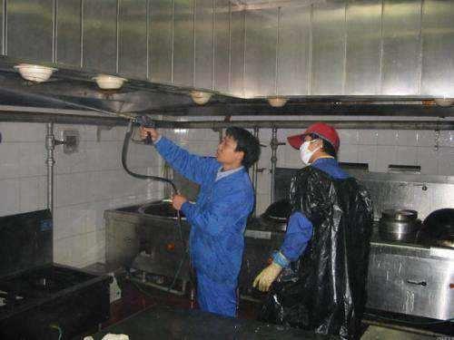 东莞的食堂抽油烟机排烟管道底清理油污公司